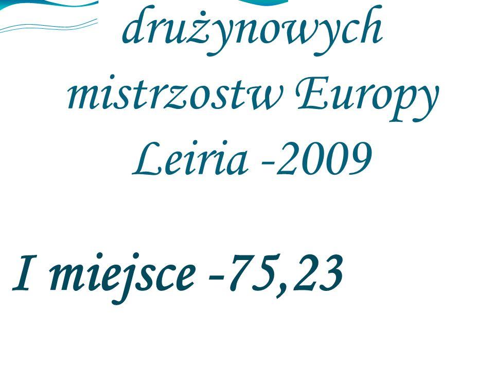 Superliga drużynowych mistrzostw Europy Leiria -2009 I miejsce -75,23