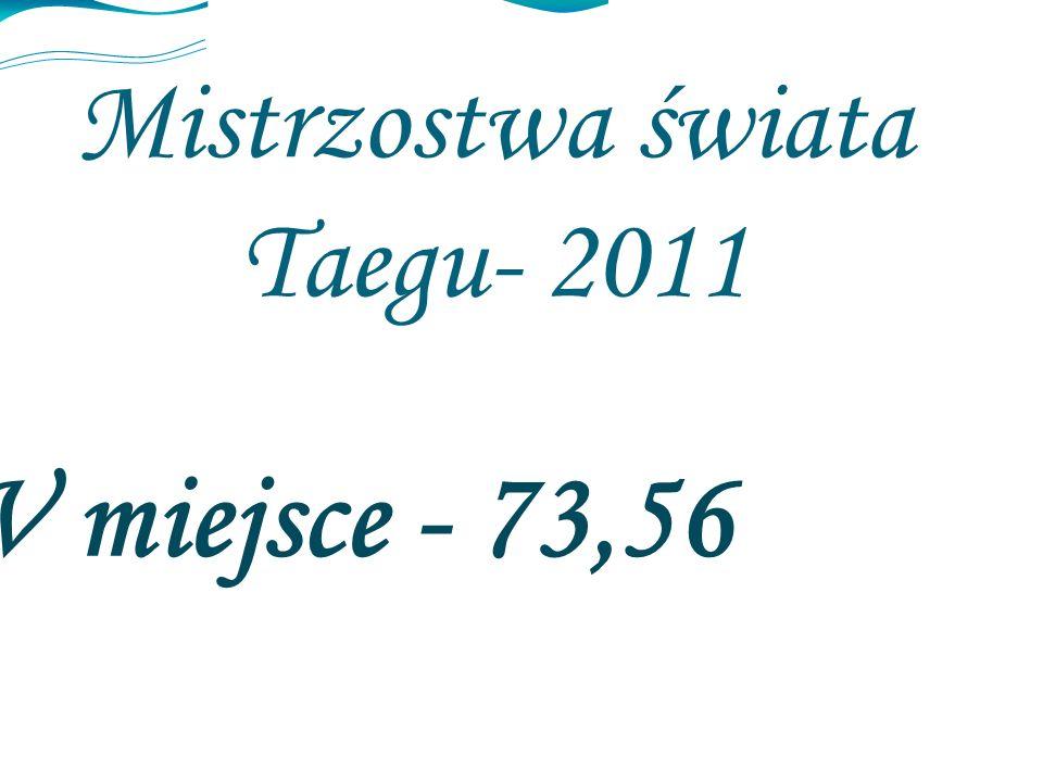 Mistrzostwa świata Taegu- 2011 V miejsce - 73,56