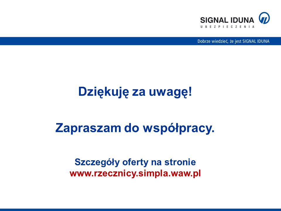 Dziękuję za uwagę! Zapraszam do współpracy. Szczegóły oferty na stronie www.rzecznicy.simpla.waw.pl