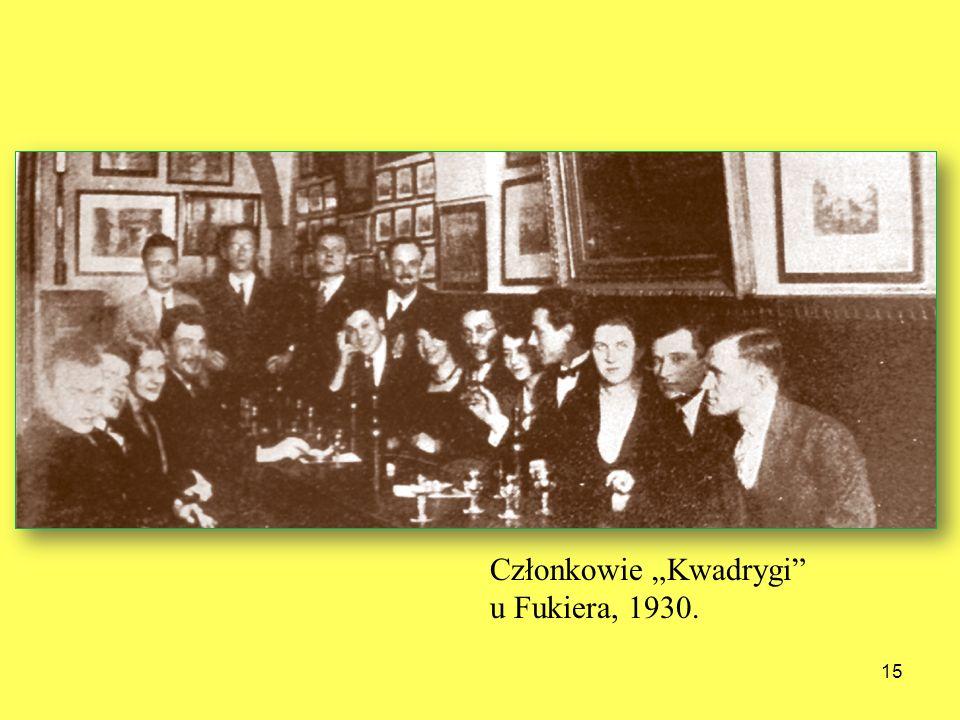 15 Członkowie Kwadrygi u Fukiera, 1930.