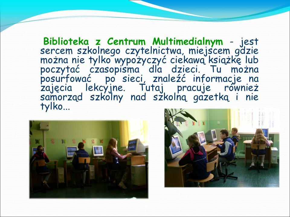Biblioteka z Centrum Multimedialnym - jest sercem szkolnego czytelnictwa, miejscem gdzie można nie tylko wypożyczyć ciekawą książkę lub poczytać czaso
