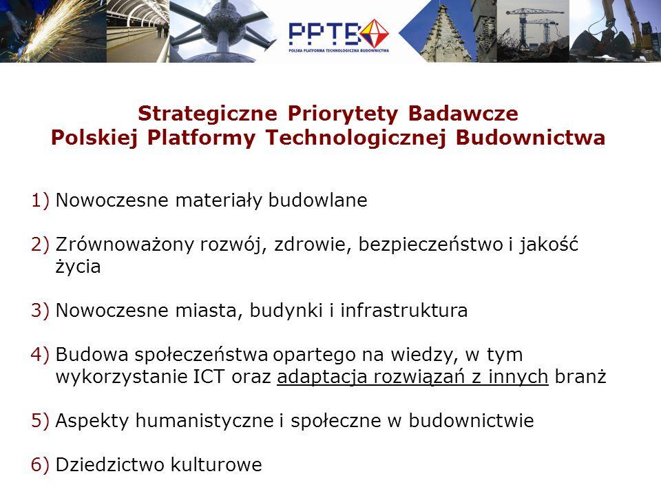 Strategiczne Obszary Badawcze PPTB od wizji do realizacji MIASTA JUTRA Zintegrowany Projekt Badawczy Etap 1: Budynek Jutra