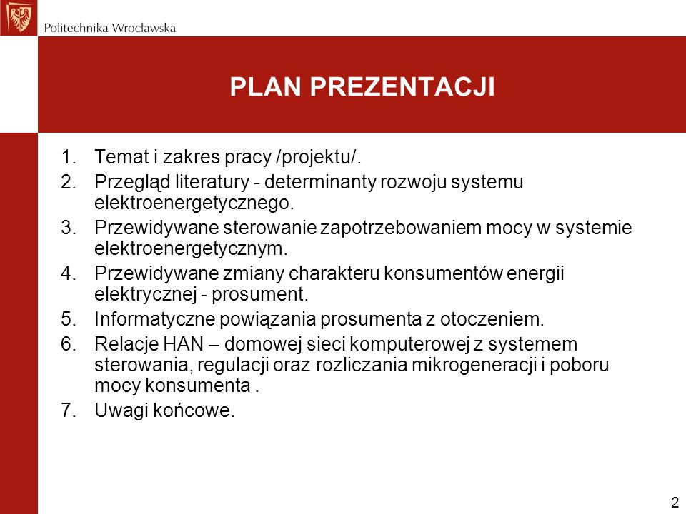 2 1.Temat i zakres pracy /projektu/.