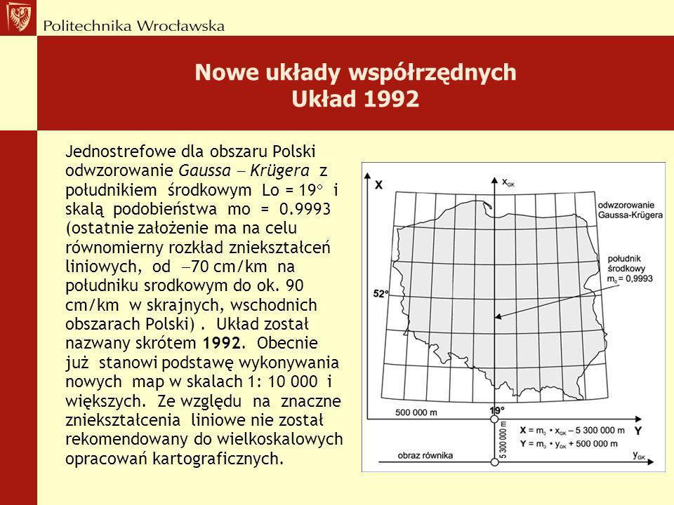 Układy współrzędnych układ 1965