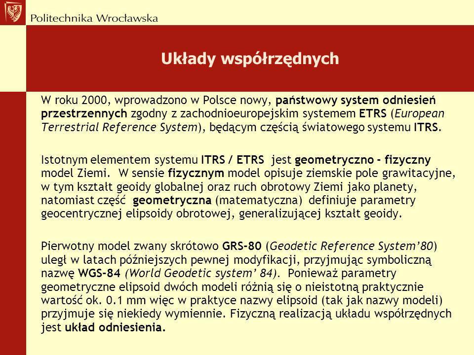 Józef Woźniak Zakład Geodezji i Geoinformatyki Wydział Geoinżynierii, Górnictwa i Geologii Politechnika Wrocławska, Na podstawie wykładu Prof. R. Kada