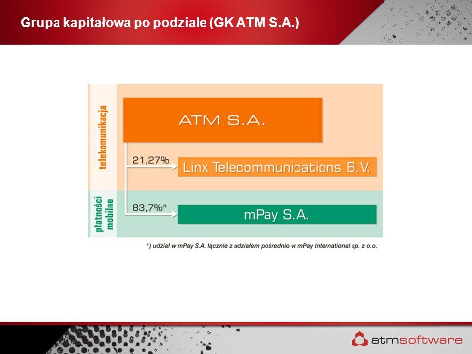 Grupa kapitałowa po podziale (GK ATM S.A.)