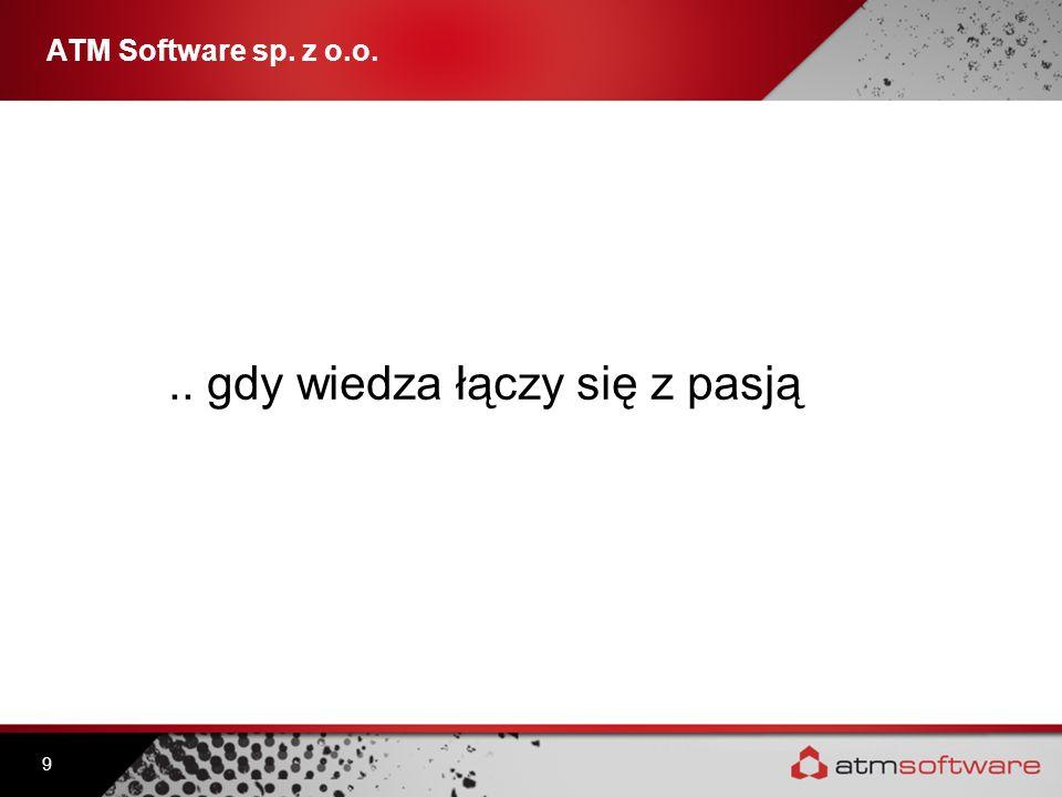 .. gdy wiedza łączy się z pasją 9 ATM Software sp. z o.o.