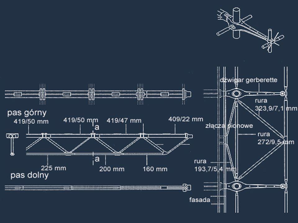 KRATOWNICA. Kratownica stropowa ze stalowych rur wzmacnia konstrukcję pomiędzy głównymi elementami stalowego szkieletu.