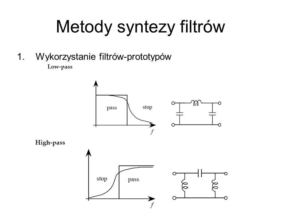 Metody syntezy filtrów 1.Wykorzystanie filtrów-prototypów