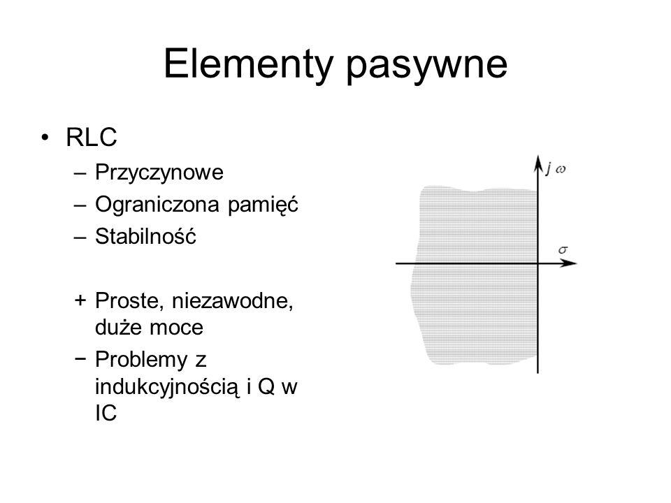 Układy aktywne Wzmacniacze RC (L)