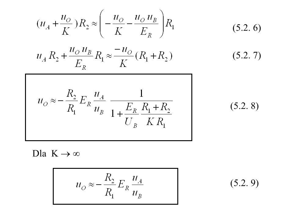 Dla K (5.2. 6) (5.2. 7) (5.2. 8) (5.2. 9)