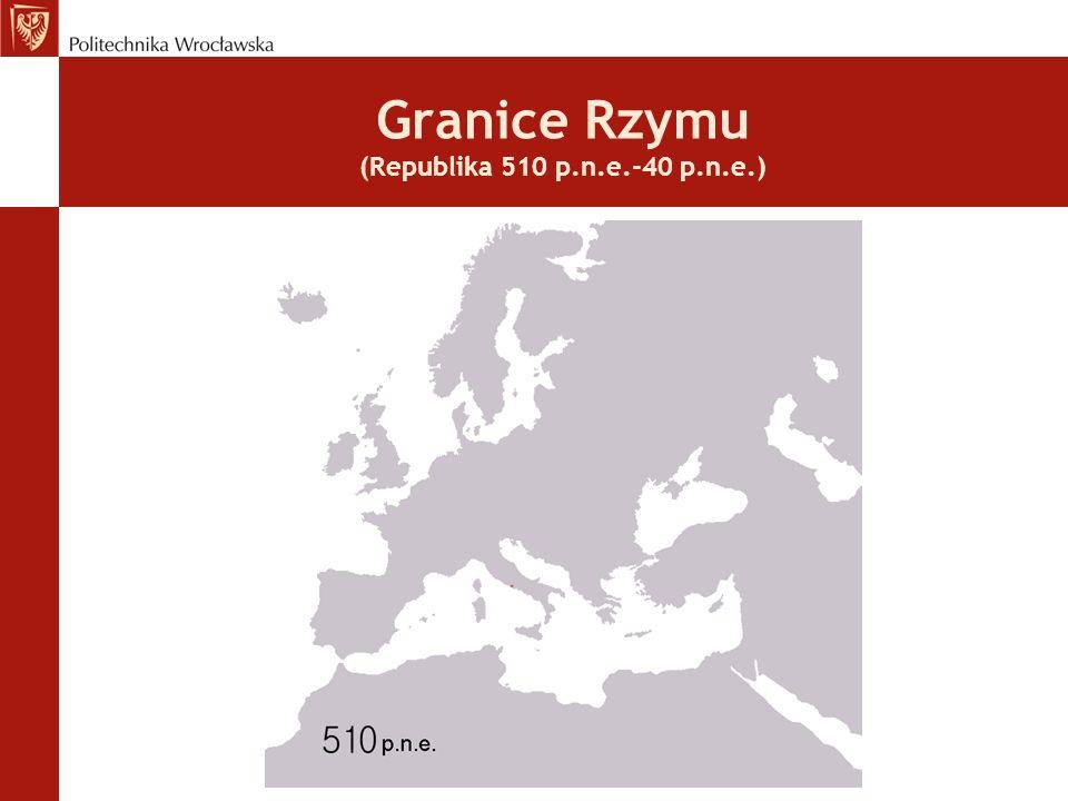 Granice Rzymu (Republika 510 p.n.e.-40 p.n.e.)