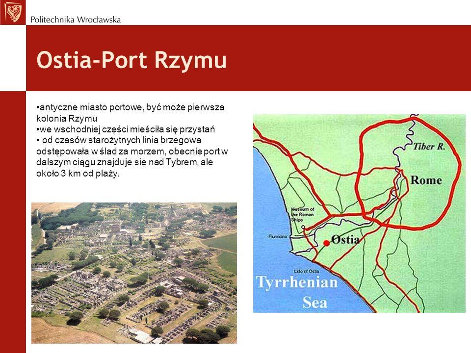 Ostia-Port Rzymu antyczne miasto portowe, być może pierwsza kolonia Rzymu we wschodniej części mieściła się przystań od czasów starożytnych linia brze