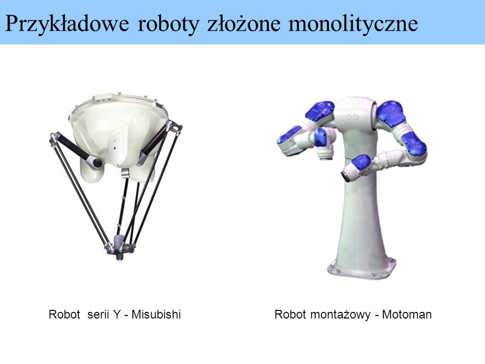 Przykładowe roboty złożone monolityczne Robot montażowy - MotomanRobot serii Y - Misubishi