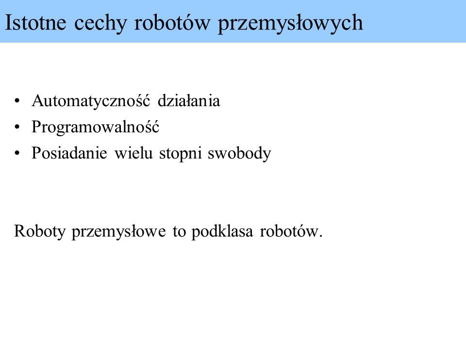 Robot kartezjański - PPP 3 przeguby pryzmatycznekształt przestrzeni roboczej