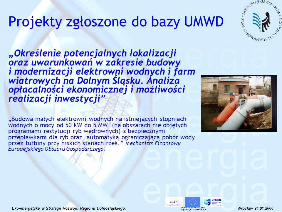 Określenie potencjalnych lokalizacji oraz uwarunkowań w zakresie budowy i modernizacji elektrowni wodnych i farm wiatrowych na Dolnym Śląsku. Analiza