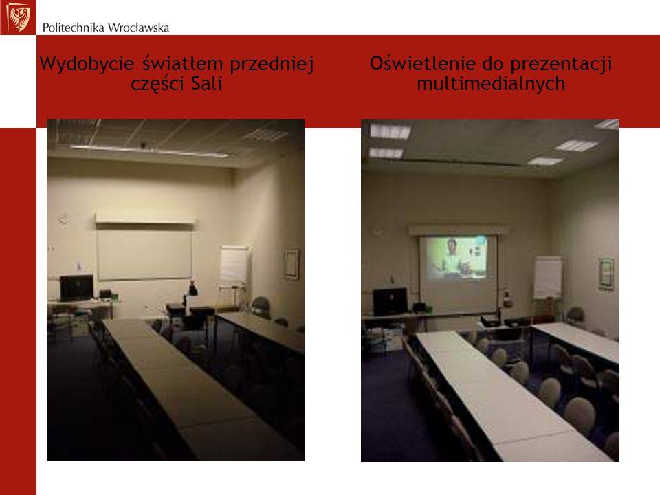 Wydobycie światłem przedniej części Sali Oświetlenie do prezentacji multimedialnych