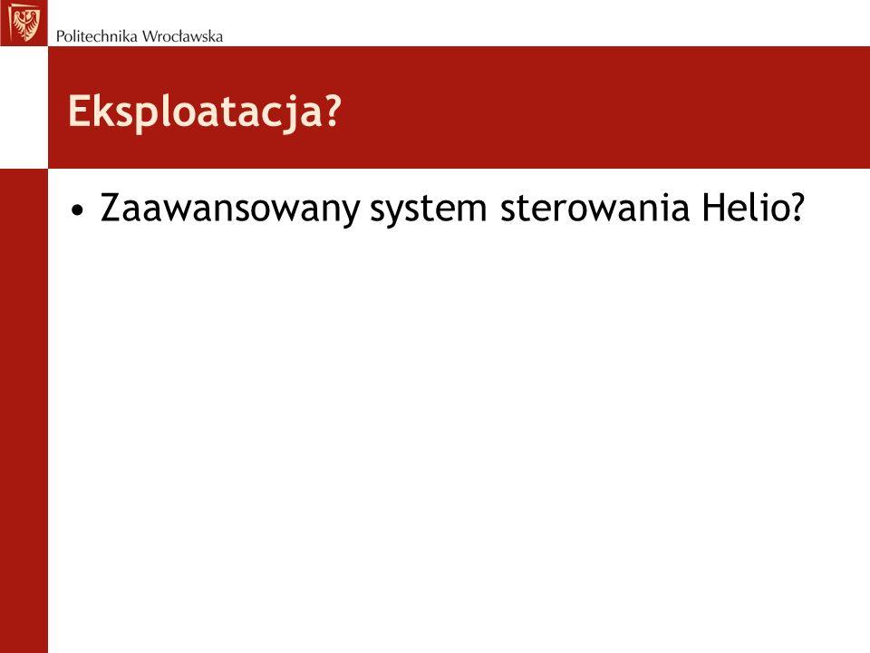 Eksploatacja Zaawansowany system sterowania Helio