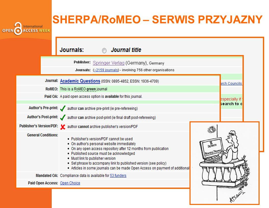 SHERPA/RoMEO – SERWIS PRZYJAZNY