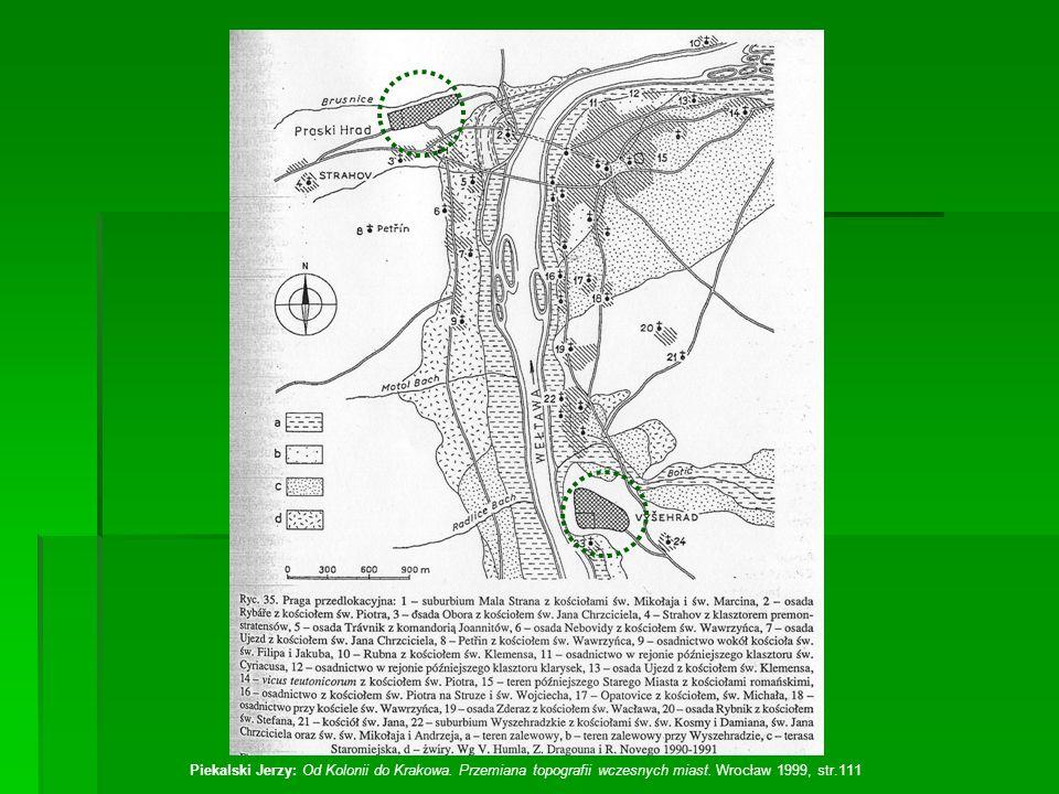 Piekalski Jerzy: Od Kolonii do Krakowa. Przemiana topografii wczesnych miast. Wrocław 1999, str.111