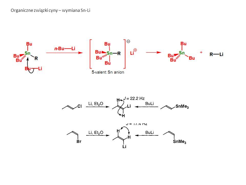 Organiczne związki cyny – wymiana Sn-Li
