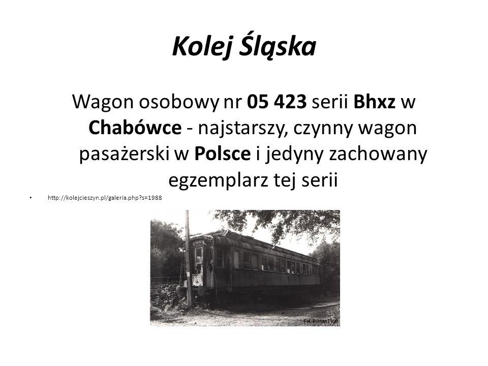 Kolej Śląska Wagon osobowy nr 05 423 serii Bhxz w Chabówce - najstarszy, czynny wagon pasażerski w Polsce i jedyny zachowany egzemplarz tej serii http