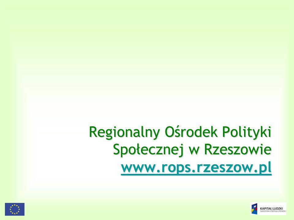 165 Regionalny Ośrodek Polityki Społecznej w Rzeszowie www.rops.rzeszow.pl www.rops.rzeszow.pl