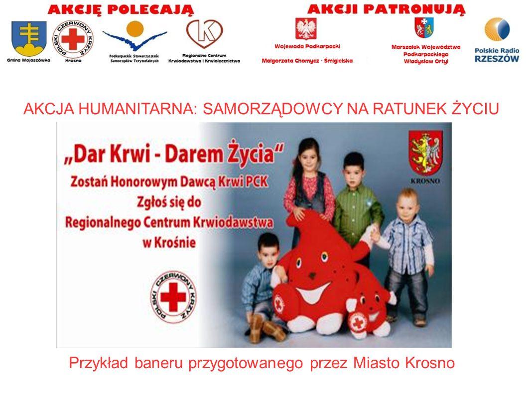 Przykład baneru przygotowanego przez Powiat Jasielski