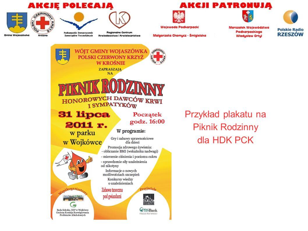 Przykład plakatu na Piknik Rodzinny dla HDK PCK
