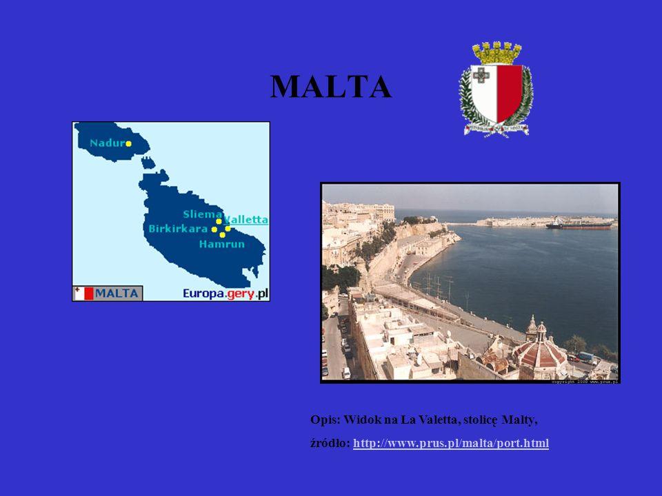 MALTA Opis: Widok na La Valetta, stolicę Malty, źródło: http://www.prus.pl/malta/port.htmlhttp://www.prus.pl/malta/port.html