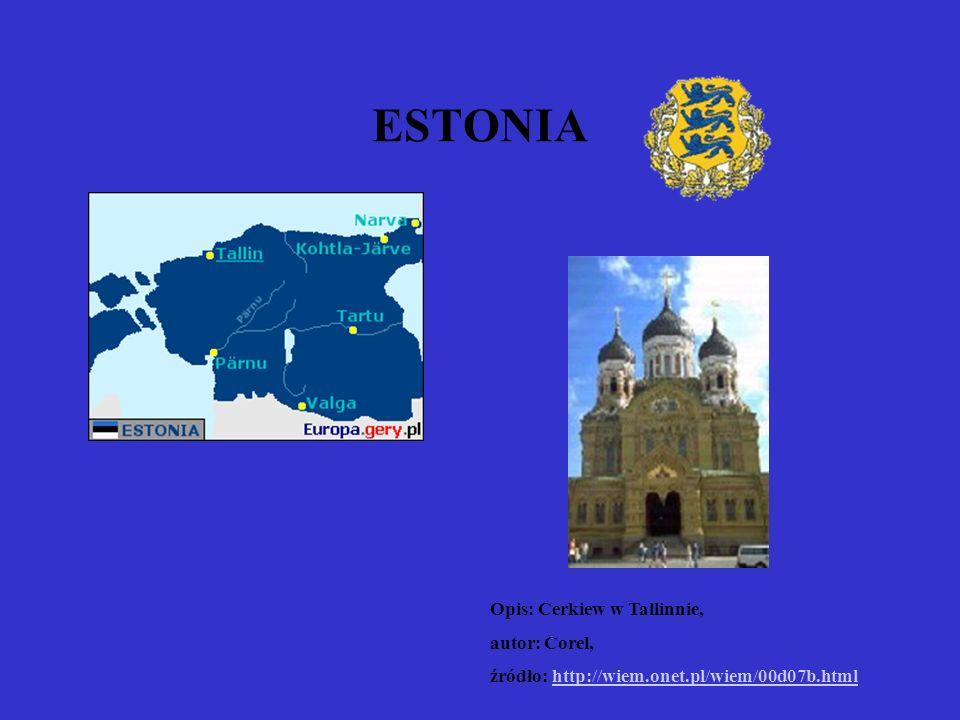 ESTONIA Opis: Cerkiew w Tallinnie, autor: Corel, źródło: http://wiem.onet.pl/wiem/00d07b.htmlhttp://wiem.onet.pl/wiem/00d07b.html