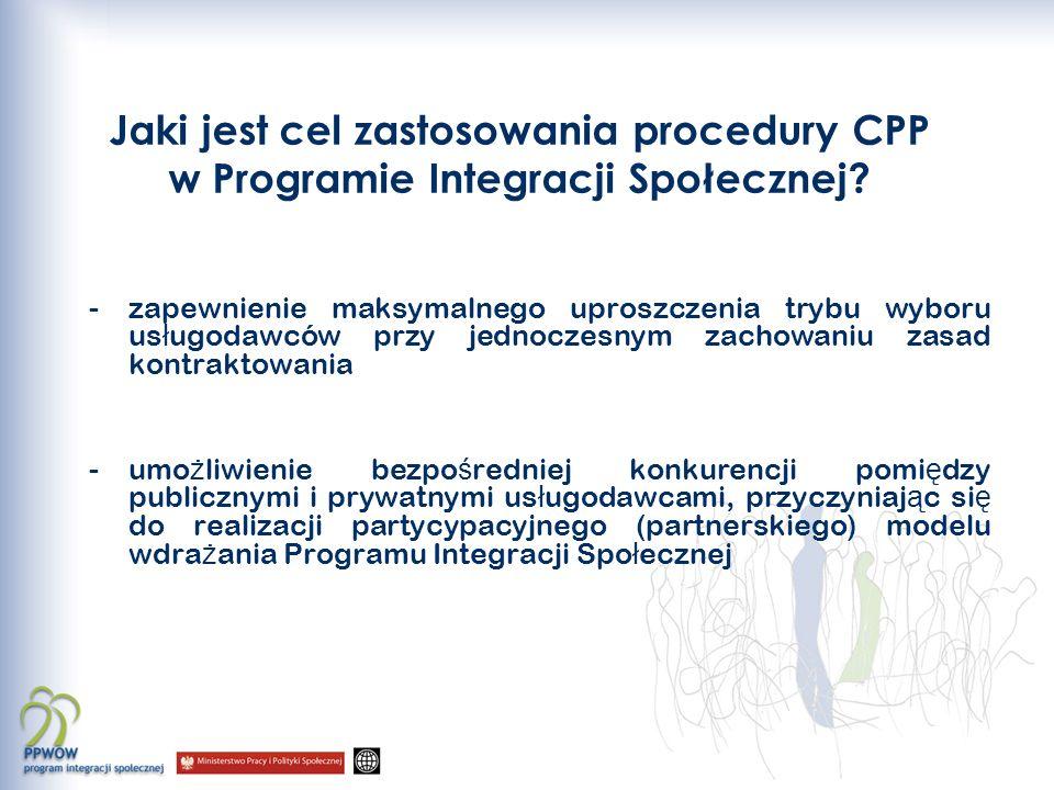 Jaki jest cel zastosowania procedury CPP w Programie Integracji Społecznej.