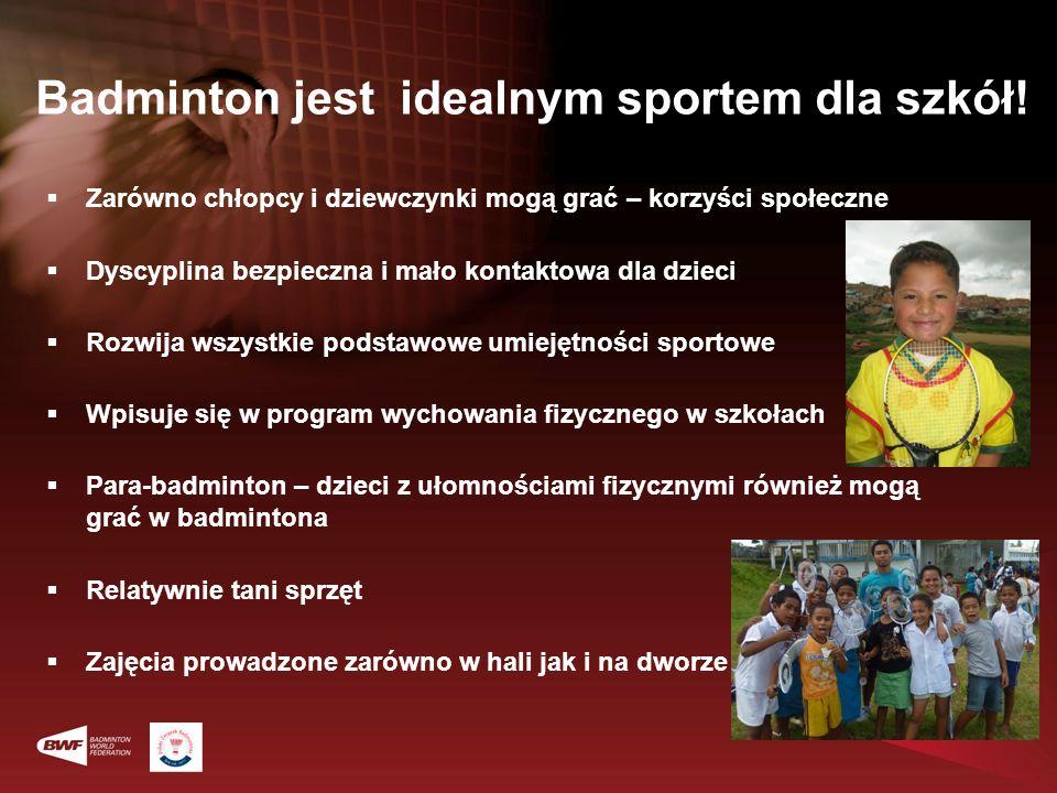 Badminton jest idealnym sportem dla szkół! Zarówno chłopcy i dziewczynki mogą grać – korzyści społeczne Dyscyplina bezpieczna i mało kontaktowa dla dz