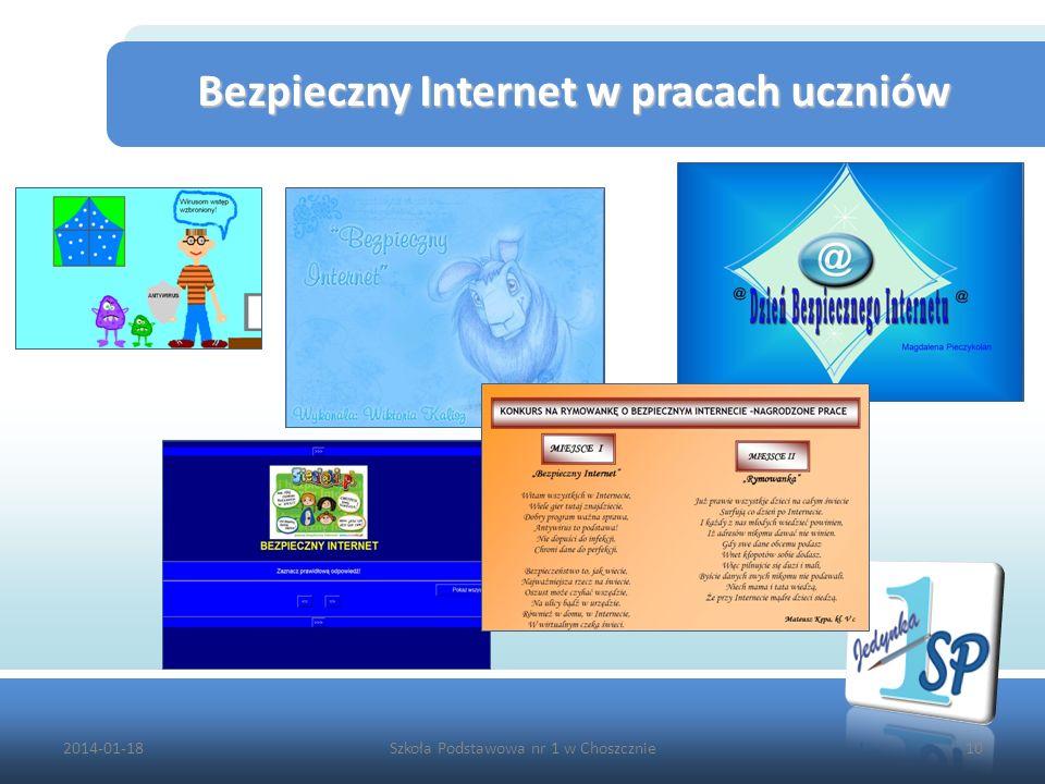 2014-01-18Szkoła Podstawowa nr 1 w Choszcznie10 Bezpieczny Internet w pracach uczniów