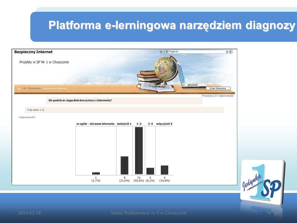 2014-01-18Szkoła Podstawowa nr 1 w Choszcznie15 Platforma e-lerningowa narzędziem diagnozy