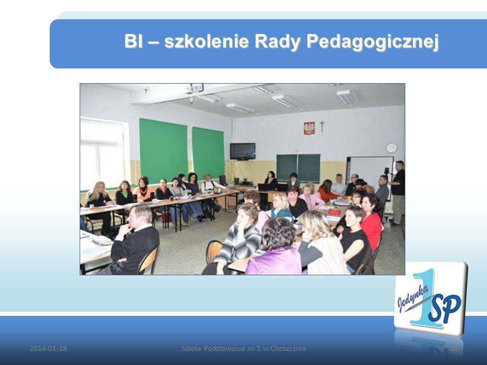2014-01-18Szkoła Podstawowa nr 1 w Choszcznie21 BI – szkolenie Rady Pedagogicznej