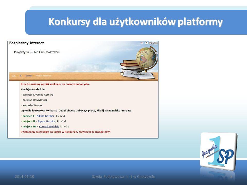 2014-01-18Szkoła Podstawowa nr 1 w Choszcznie8 Konkursy dla użytkowników platformy