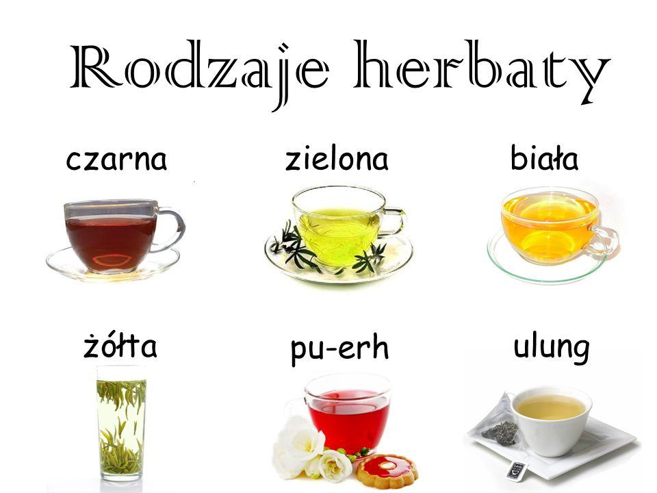 Herbata czarna Otrzymywana jest w wyniku czterech procesów: więdnięcia, skręcania, fermentacji, suszenia.