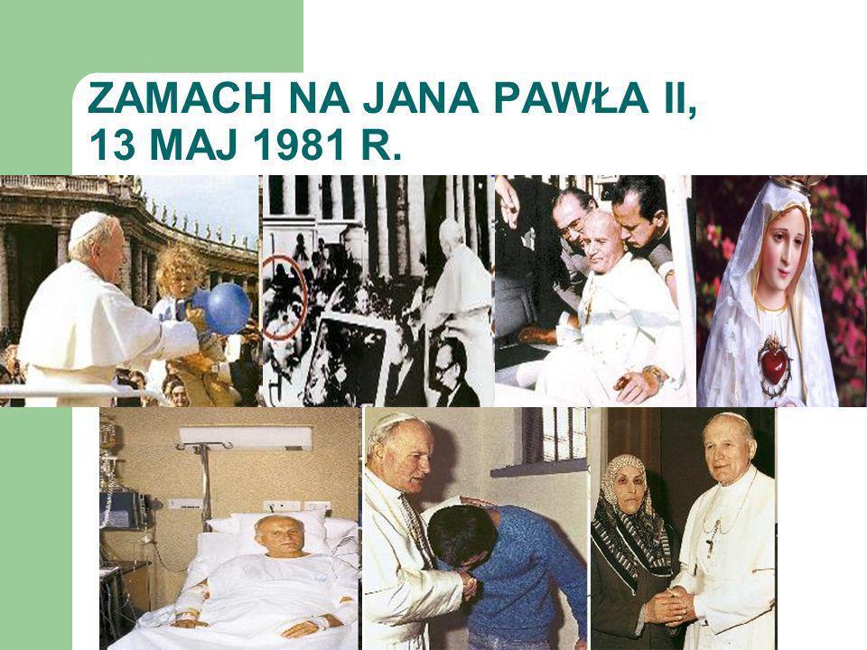 ZAMACH NA JANA PAWŁA II, 13 MAJ 1981 R.