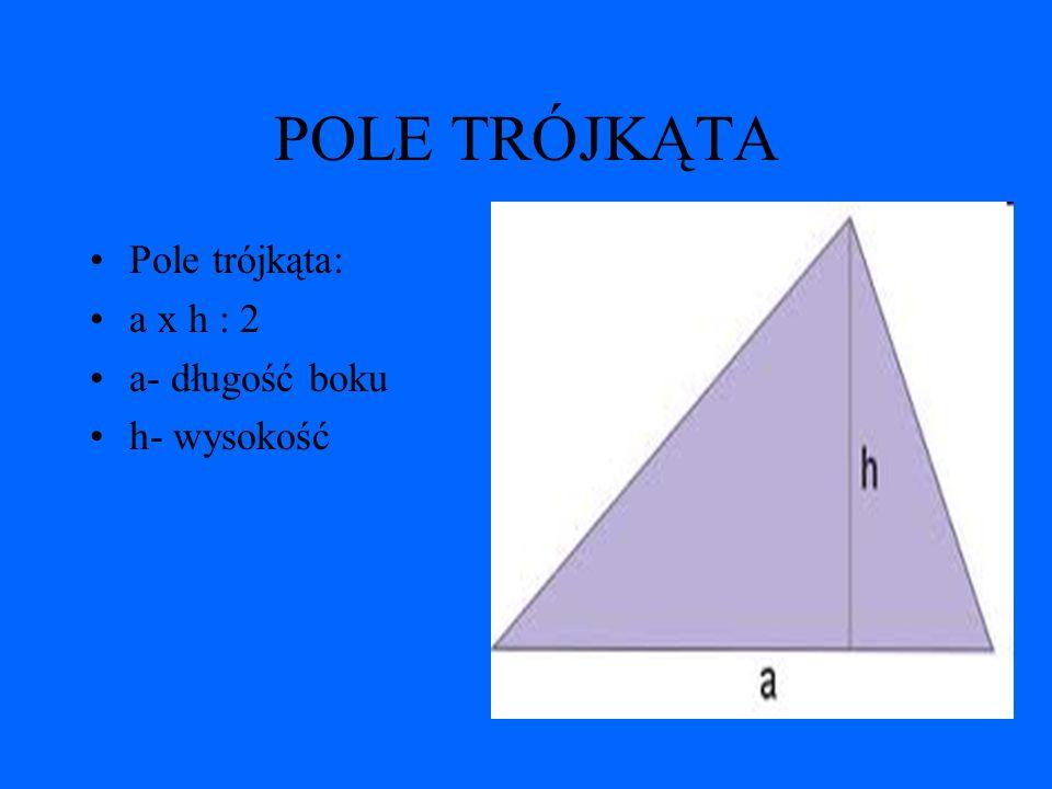 TROJKĄTY Trójkąty dzielimy na: Trójkąt równoboczny Trójkąt prostokątny Trójkąt rozwartokątny Trójkąt ostrokątny Trójkąt równoramienny