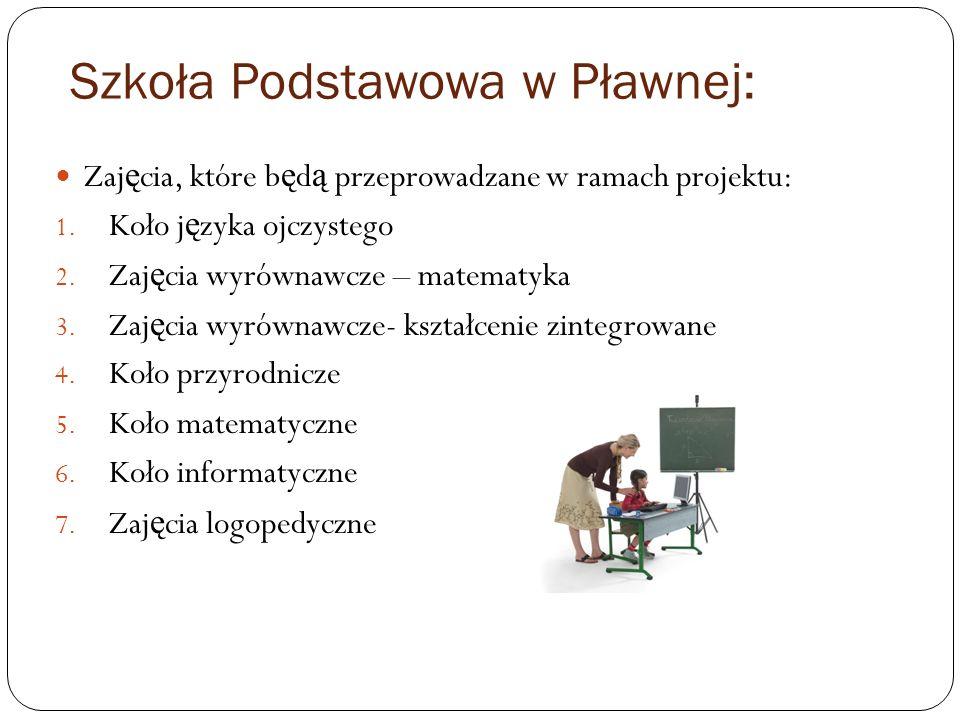 Zespół Szkół w Lubomierzu Zaj ę cia, które b ę d ą przeprowadzane w ramach projektu: 1.