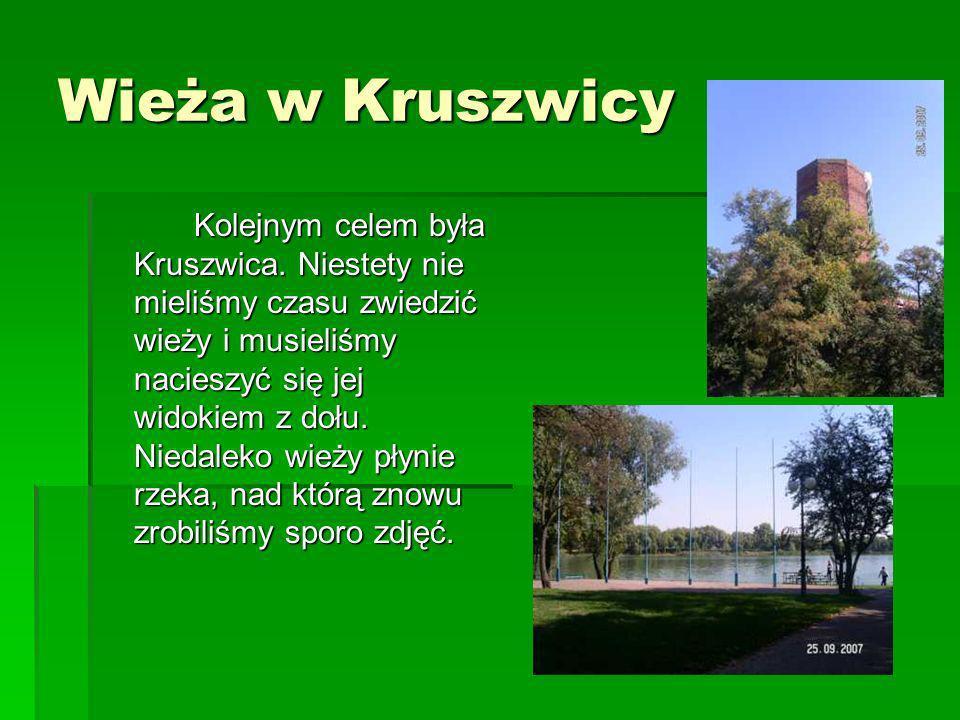 Wieża w Kruszwicy Kolejnym celem była Kruszwica. Niestety nie mieliśmy czasu zwiedzić wieży i musieliśmy nacieszyć się jej widokiem z dołu. Niedaleko