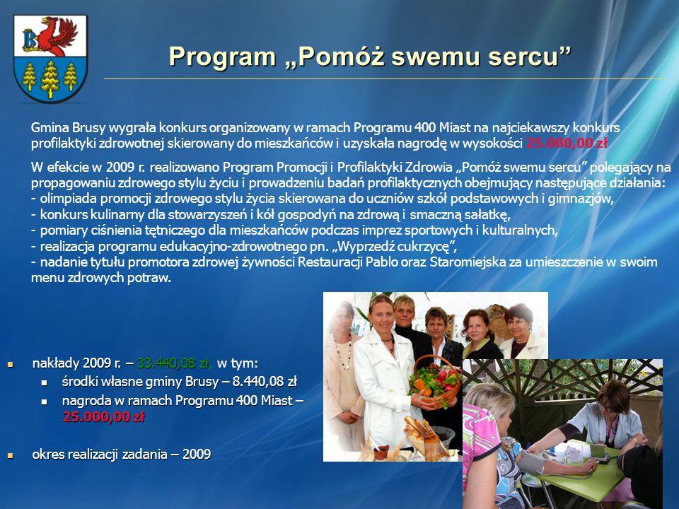 Program Pomóż swemu sercu Gmina Brusy wygrała konkurs organizowany w ramach Programu 400 Miast na najciekawszy konkurs profilaktyki zdrowotnej skierow