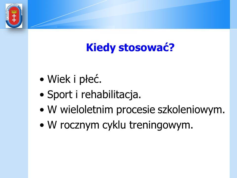 Kiedy stosować? Wiek i płeć. Sport i rehabilitacja. W wieloletnim procesie szkoleniowym. W rocznym cyklu treningowym.