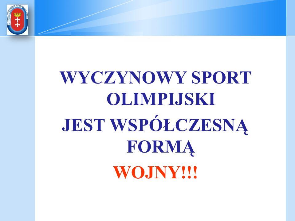 WYCZYNOWY SPORT OLIMPIJSKI JEST WSPÓŁCZESNĄ FORMĄ WOJNY!!!