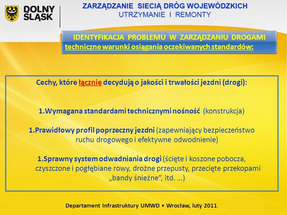 Departament Infrastruktury UMWD Wrocław, luty 2011.