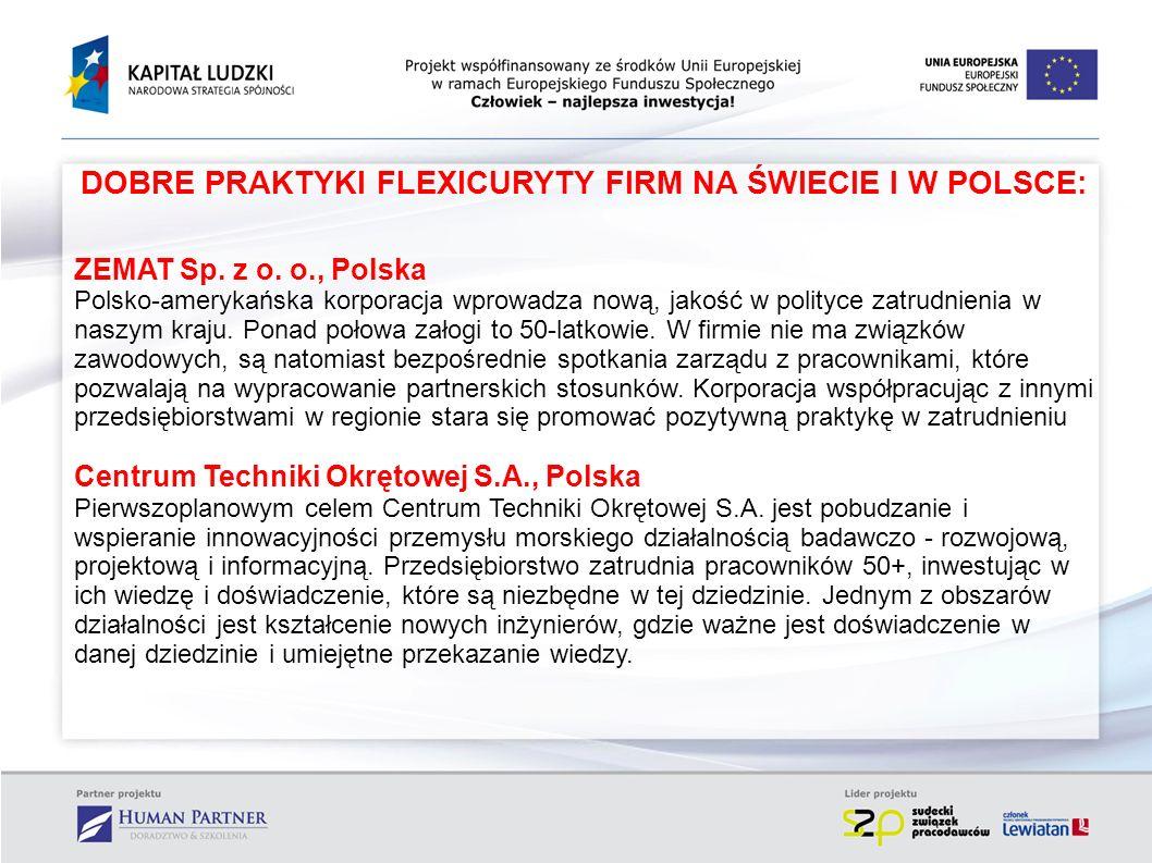DOBRE PRAKTYKI FLEXICURYTY FIRM NA ŚWIECIE I W POLSCE: ZEMAT Sp. z o. o., Polska Polsko-amerykańska korporacja wprowadza nową, jakość w polityce zatru