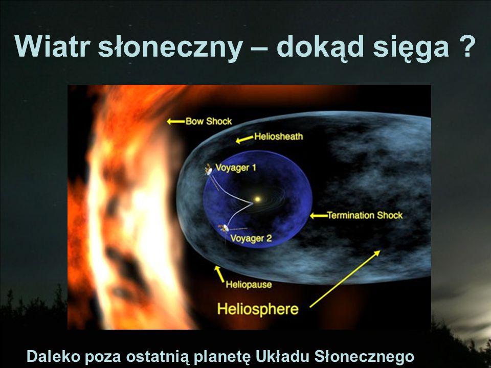 Wiatr słoneczny – dokąd sięga ? Daleko poza ostatnią planetę Układu Słonecznego