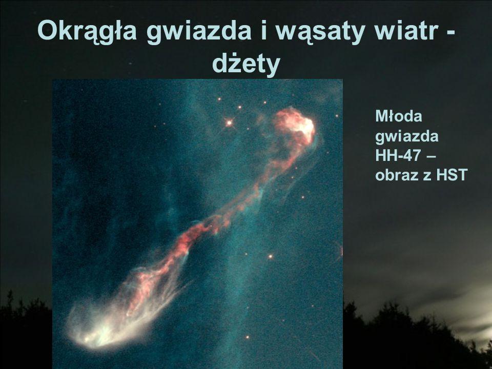 Okrągła gwiazda i wąsaty wiatr - dżety Młoda gwiazda HH-47 – obraz z HST