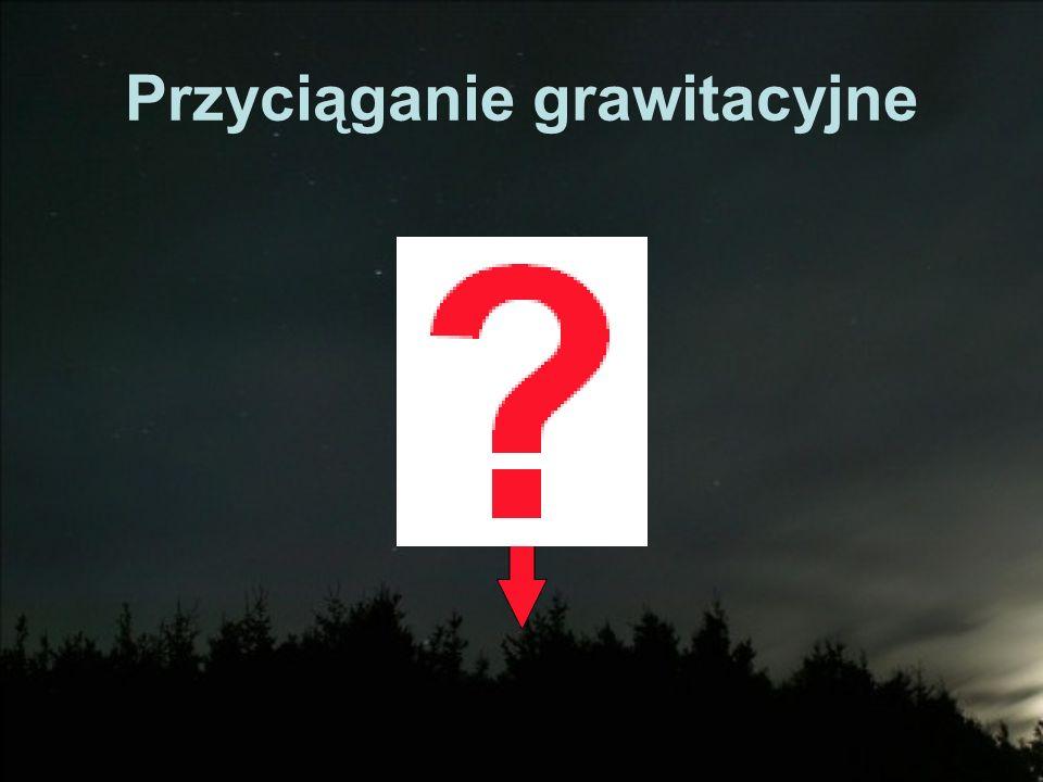 Prawo powszechnego ciążenia Isaak Newton Albert Einstein Grawitacja = geometria czasoprzestrzeni Ale zwykła materia zawsze powoduje przyciąganie – nie ma ujemnej masy F = GM 1 M 2 /r 2 Masa jest zawsze dodatnia, grawitacja to siła przyciagania, nie tak jak elektromagnetyzma (prawo Coulomba)